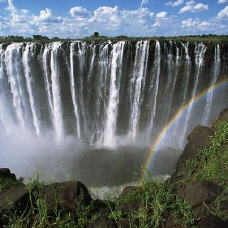 The falls from Zimbabwe